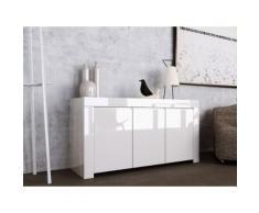 Credenza Mobile Da Salotto 3 Porte 162x50x82cm Tft Amber Bianco L...