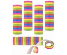 5 serpentine multicolori di coriandoli