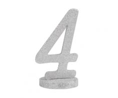 Centrotavola in legno color argento numero 4
