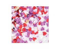 Coriandoli da tavola cuori multicolore 14 gr