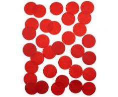Coriandoli di carta rossi ignifughi