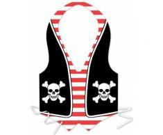 Grembiule da pirata in plastica per uomo