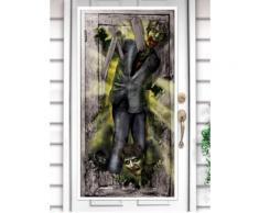 Adesivo per porta raffigurante zombie
