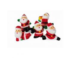 5 decorazioni per torta Babbo Natale