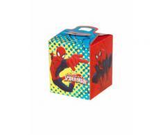 4 scatole in cartone quadrate Spiderman