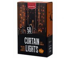 Ghirlanda tenda luminosa 50 LED arancione