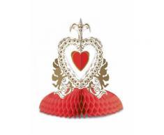 Centro tavola vintage rosso per san valentino 30 cm