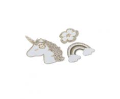 100 coriandoli da tavola unicorno oro