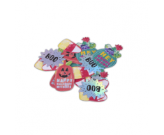 120 coriandoli da tavola colorati Halloween