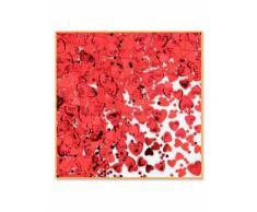 Coriandoli da tavola cuori rossi metallizzati 14 gr
