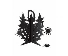 Centrotavola nero con ragni