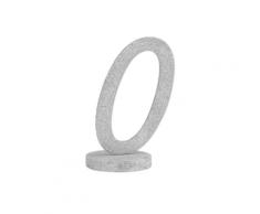 Centrotavola in legno color argento numero 0