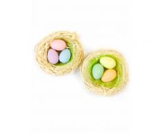 2 nidi con uova colorate