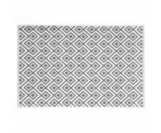 Tappeto da bagno bianco in cotone con motivi grigi 80x50cm GRAPHIC WILD