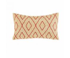 Cuscino da esterno a motivi grafici rossi, 30x50