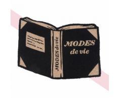 Zerbino libro in fibra di cocco nero, 45x65 cm Chantal Thomass