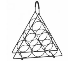Portabottiglie triangolo nero in metallo