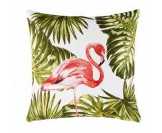 Cuscino da esterno con stampa fenicottero rosa, 50x50