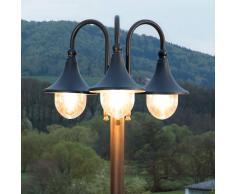 Lampenwelt.com Candelabro Daphne a tre luci