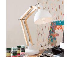 Kare Lampada da scrivania bianca Work Station con legno
