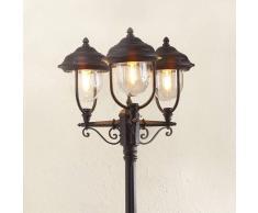 Konstmide Romantico candelabro a 3 lanterne PARMA, nero