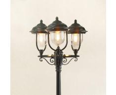 Konstmide Romantico candelabro a 3 lanterne PARMA, verde
