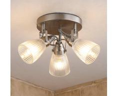 Lampenwelt.com Kara - lampada LED per bagno con vetro scanalato