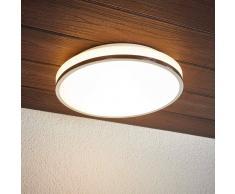 Lampenwelt.com Lyss - lampada LED da soffitto per bagno cromata