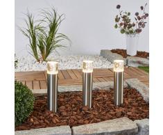 Lampenwelt.com Set di 3 lampade LED a picchetto Lisou