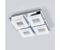 Lampenwelt.com Marija - lampada LED da soffitto per bagno 4 luci