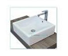 Lavabo D'Appoggio Ceramica Bianco 46x46x15 Cm Modello Minimal