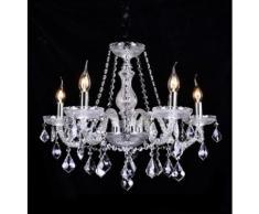 Lampadario da 5 luci lampada In vetro Cristallo Da Sospensione 2010-5