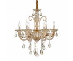 Lampadario da 6 luci lampada In vetro Cristallo dorato 2076-6