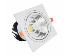 Faretto LED incasso Quadrato 24W Cob faro led controsoffitto con alimentatore Led