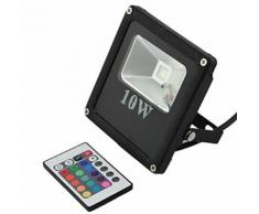 Faretto LED RGB 10W con telecomando alta luminosita' LED spot