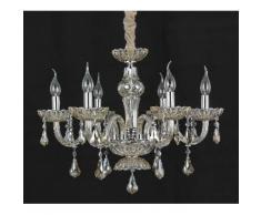 Lampadario Cristallo da 6 luci lampada In vetro trasparente 2008-6