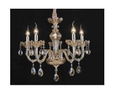 Lampadario da 5 luci lampada In vetro Cristallo trasparente 2007-5