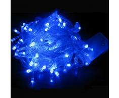 Ghirlanda a tenda 14 pendenti 140 led IP44 luce Blu 3 metri GHI-140LED-BLU