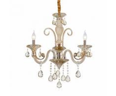 Lampadario da 3 luci lampada In vetro Cristallo dorato 2076-3