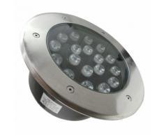 Faretto LED 18W 230v 18x1w calpestabile da incasso Faretto led carrabile