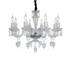 Lampadario da soffitto Cristallo Trasparente Fiori e Tulipani 8 Bracci 2084-8