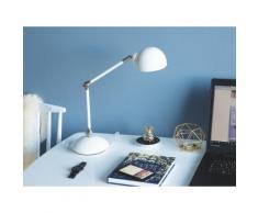 Lampada da tavolo e comodino in metallo bianco HELMAND