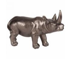Statuetta rinoceronte nera, 28 cm