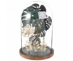 Statuetta foglie in metallo con campana, 42 cm