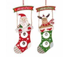 Decorazioni natalizie da appendere stivali con sonagli