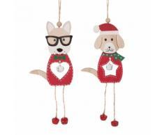 Decorazioni natalizie da appendere cani