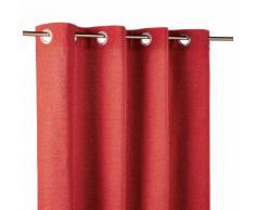 Tenda con occhielli rossa, 140x300 cm