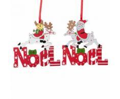 Decorazioni natalizie da appendere renna bianca e rossa