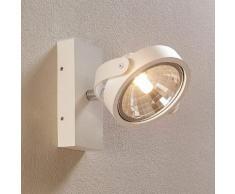 Faretto LED Lieven bianco a parete o a soffitto