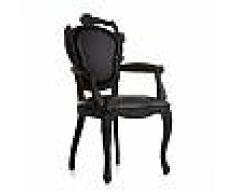MOOOI sedia SMOKE DINING ARMCHAIR (Nero - Legno bruciato e pelle)